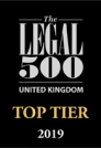 The Legal 500 UK Top Tier Firm affiliation badge